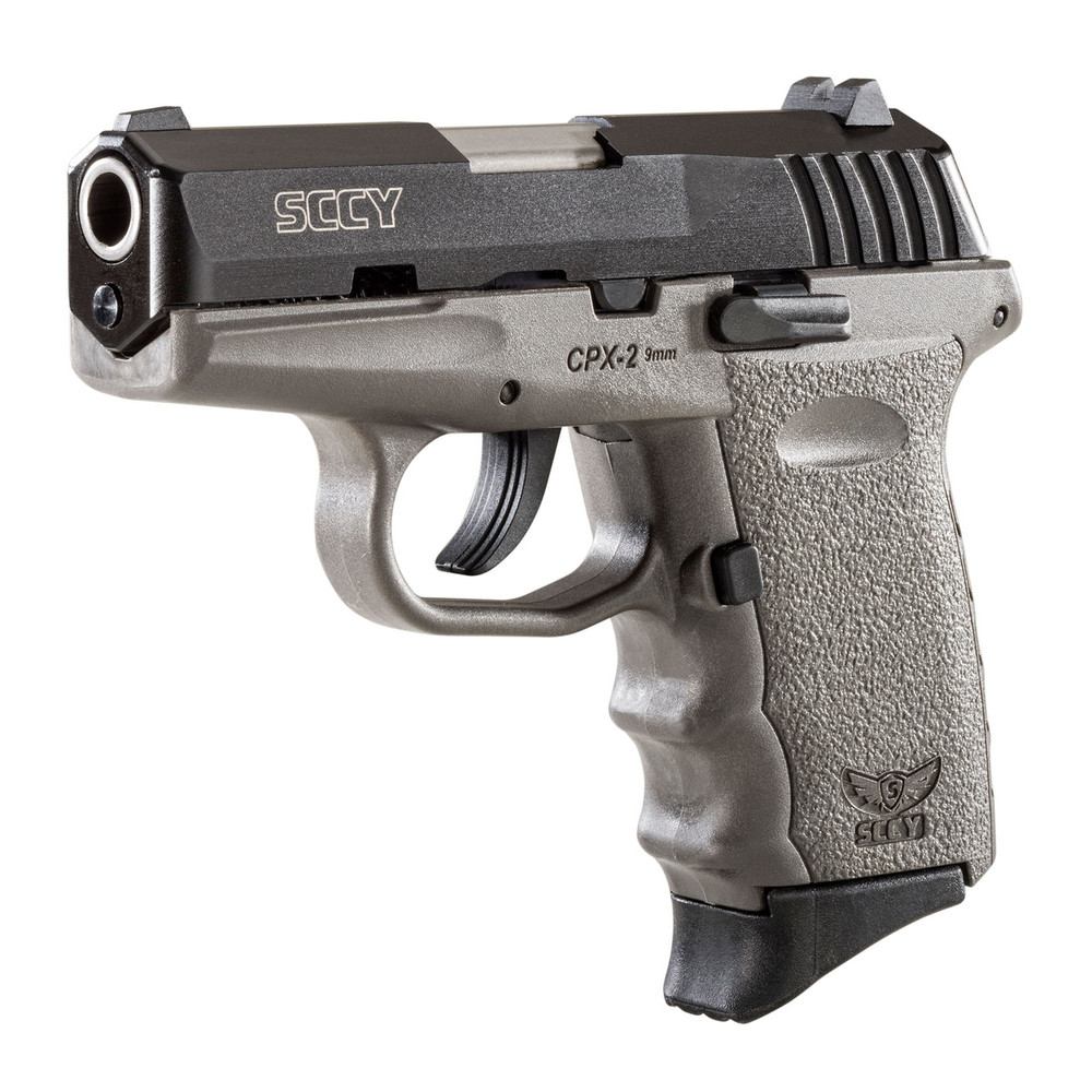 """Sccy Cpx-2 9mm 10rd Gray 3.1"""" 3dot"""