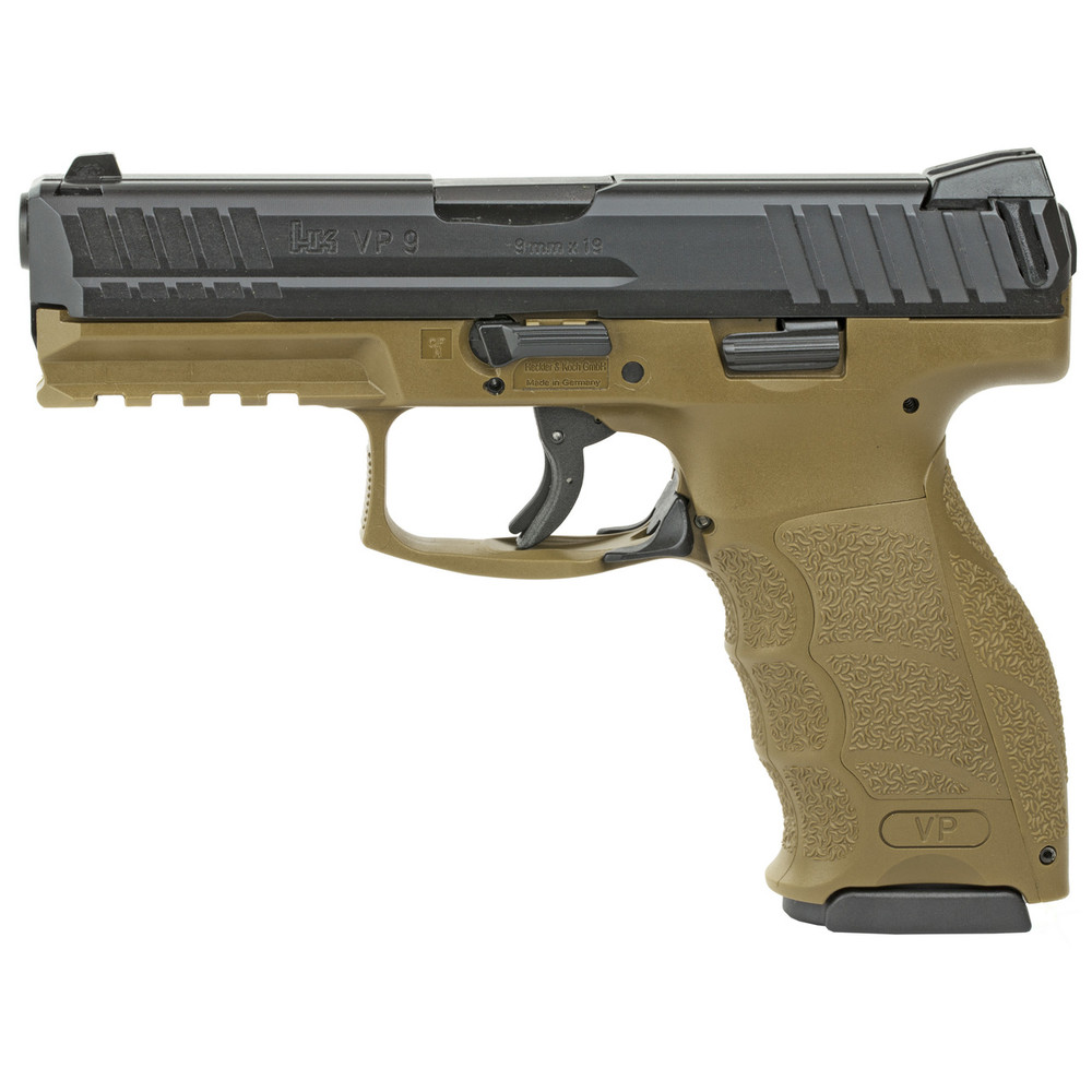 "Hk Vp9 9mm 4.09"" 10rd Fde 2mags"