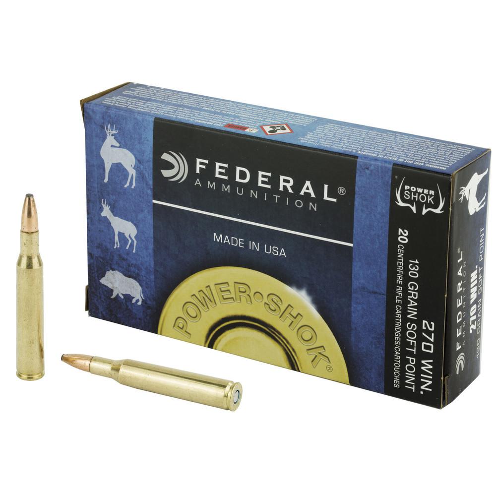 Fed Pwrshk 270win 130gr Sp 20/200