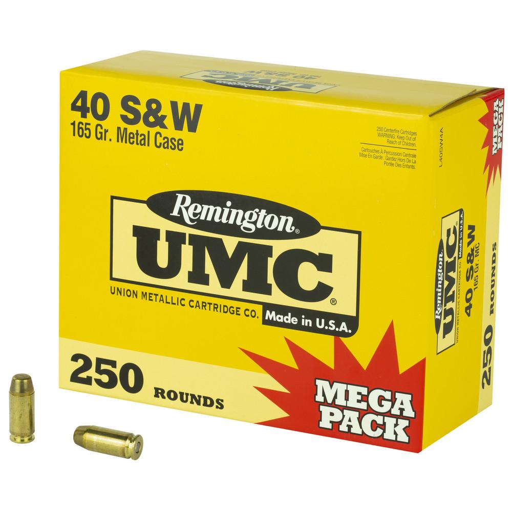Rem Umc Mp 40sw 165gr Fmj 250/1000