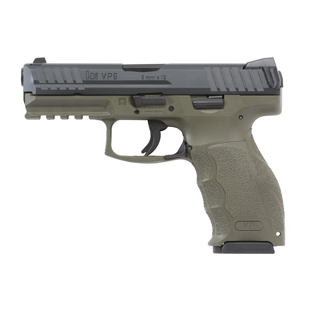 "Hk Vp9 9mm 4.09"" 15rd Odg 2mags"