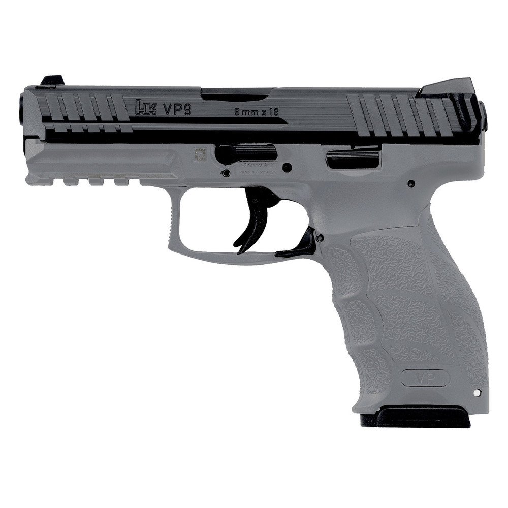 "Hk Vp9 9mm 4.09"" 15rd Gry 2mags"