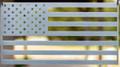 "American Flag (laser cut 12 gauge steel) 18"" x 9.5"" in Bombastic Silver"