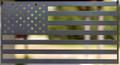 "American Flag (laser cut 12 gauge steel) 18"" x 9.5"" in Evo Grey"