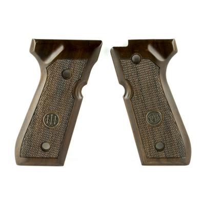 Beretta Grips 92 96fs Wood Chkrd