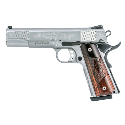"""S&w 1911 45acp 8rd Sts 5"""" Fs Engrvd"""