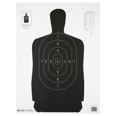Action Tgt B34 Blk 100pk