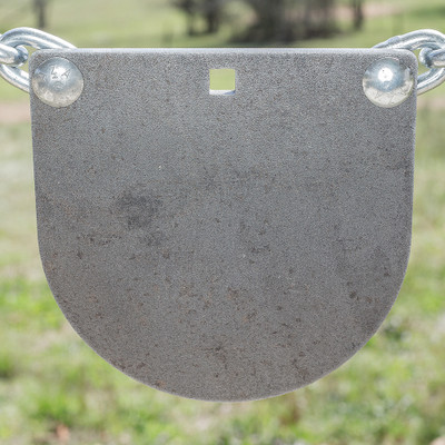 "3/8"" x 8"" AR500 Steel Target ""D Shaped Gong"""