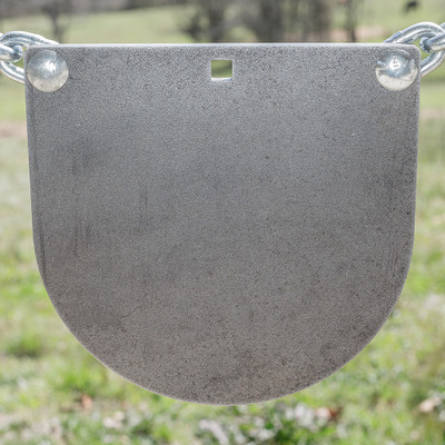 "3/8"" x 10"" AR500 Steel Target ""D Shaped Gong"""