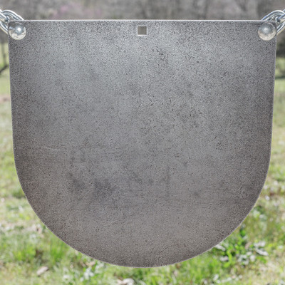 "3/8"" x 16"" AR500 Steel Target ""D Shaped Gong"""