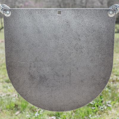 "3/8"" x 16"" AR500 Steel Target ""D Shaped Gong"""
