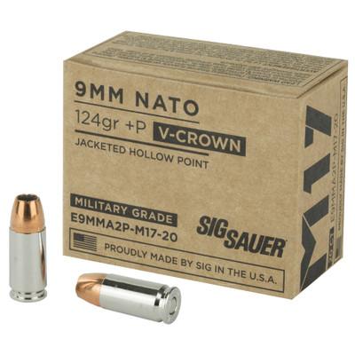 Sig Ammo 9mm M17 124gr +p Jhp 20/200