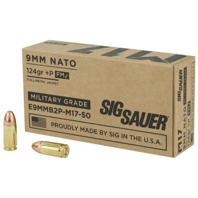 Sig Ammo 9mm M17 124gr +p Fmj 50/100
