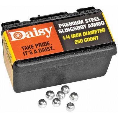 """Daisy 1/4"""" Steel Slingshot Ammo"""