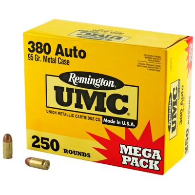 Rem Umc Mp 380acp 95gr Fmj 250/1000 - REM23721