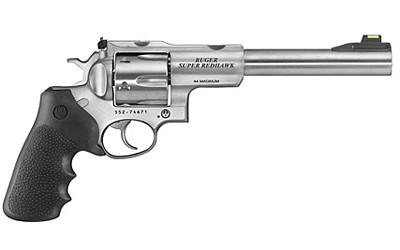 """Ruger Sup Rdhwk .44mag 7.5"""" 6rd Rbr"""