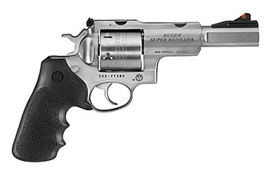 """Ruger Sup Rdhwk 454cas 5"""" 6rd Rbr/wd"""