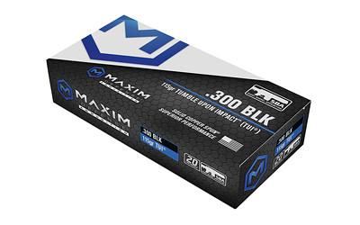Maxim 300blk 115gr Tui Sba 20/500
