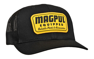 Magpul Equipped Trckr Hat Blk W/gld