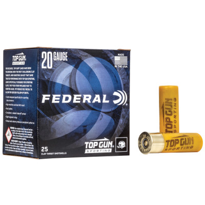 "Fed Top Gun 20ga 2.75"" #7.5 25/250 - FETGS22475"