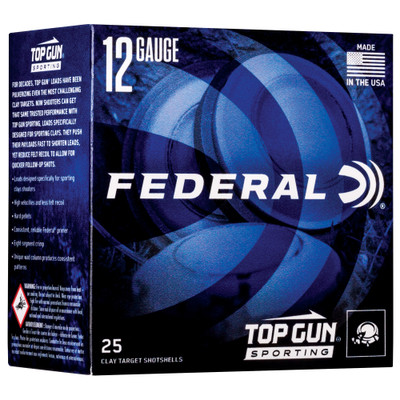 "Fed Top Gun 12ga 2.75"" #7.5 1 Oz 25/ - FETGSH1275"