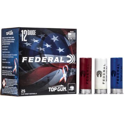 "Fed Top Gun 12ga 2.75"" #8 Rwb 25/250"