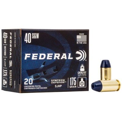 Fed Syn Def 40s&w 175gr Sjhp 20/200