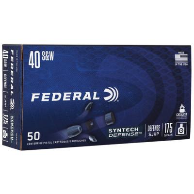 Fed Syn Def 40 S&w 175gr Sjhp 50/500