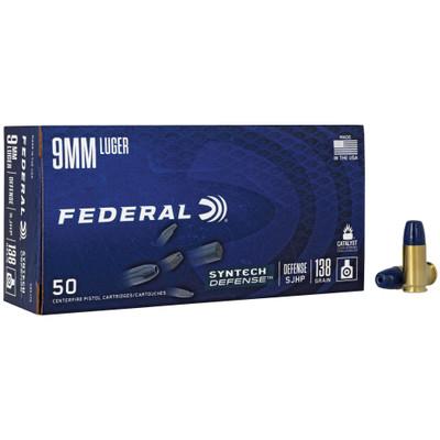 Fed Syn Def 9mm 138gr Sjhp 50/500