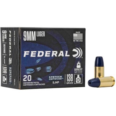 Fed Syn Def 9mm 138gr Sjhp 20/200