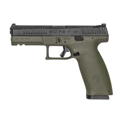 """Cz P-10f 9mm 4.5"""" Od/blk Ns 19rd"""