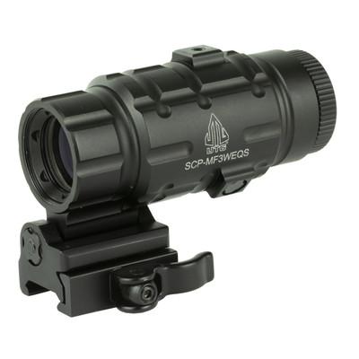 Utg 3x Magnifier W/fts Qd Mnt