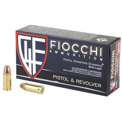 Fiocchi 9mm 158gr Fmj 50/1000