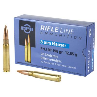Ppu 8mm Mauser Fmj 198gr 20/200