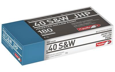 Aguila 40sw 180gr Jhp 50/500