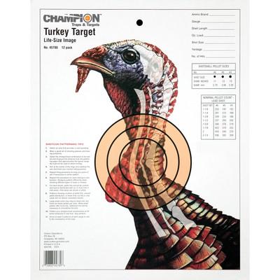 Champion Turkey Trgt Lifesize 12pk