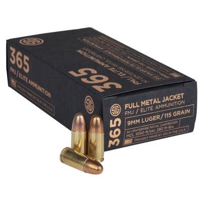 Sig Ammo 9mm 115gr Fmj 50/1000 - SGE9MMB1-365