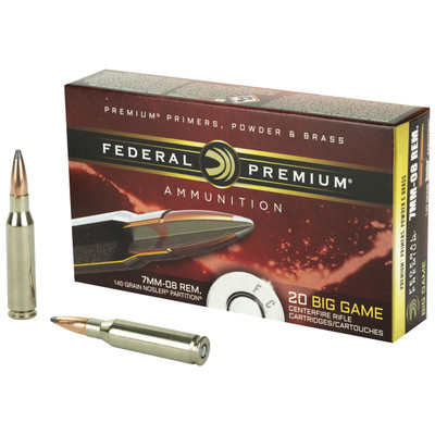 Fed Prm 7mm-08 140gr Np 20/200