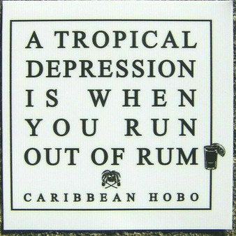 Tropical Depression Rum Sticker.