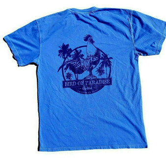 Bird of Paradise T-shirt Blue
