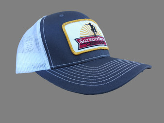 Saltwater Drifter Trucker patch snap back hat