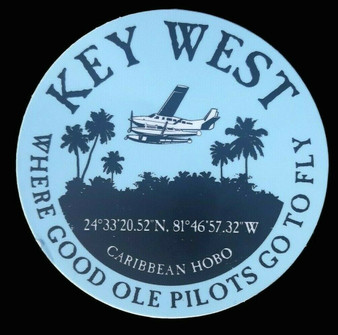 Key West pilot sticker.
