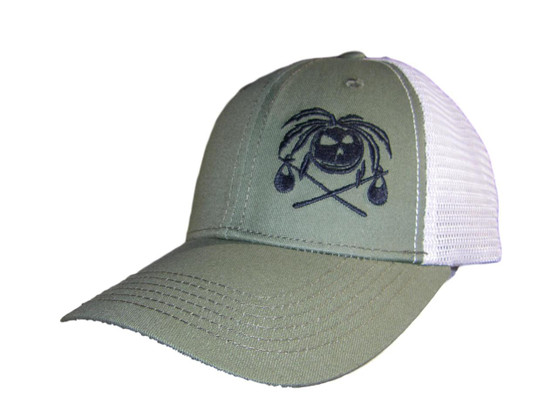 Caribbean Hobo Coconut head trucker cap Khaki green. Free Shipping!