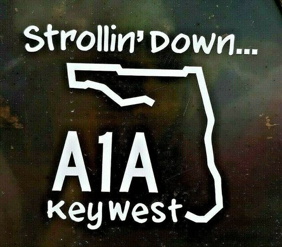 Strollin Down A1A sticker.