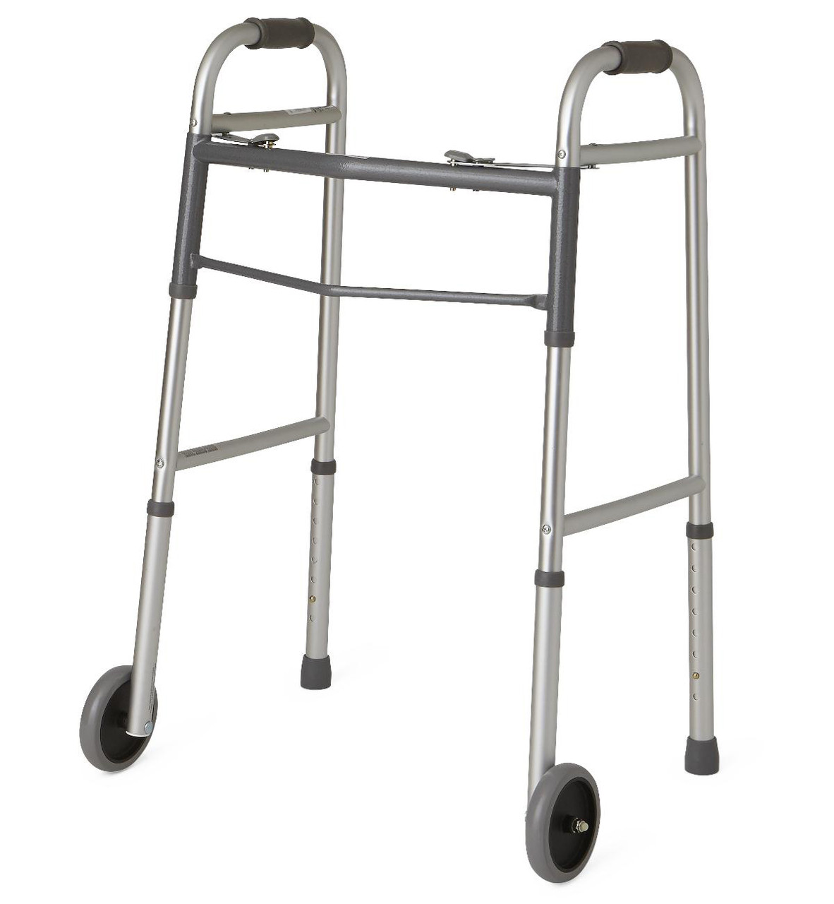 """Two-Button Folding Walkers with 5"""" Wheels"""