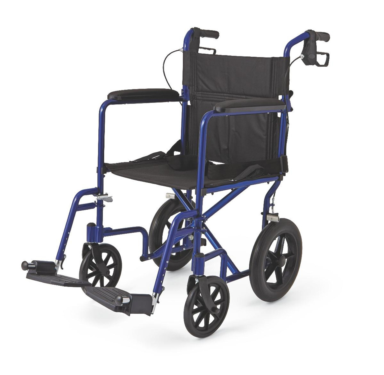 "Aluminum Transport Chair with 12"" Wheels"