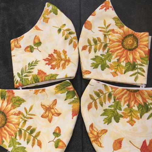 Sunflower Fall Colors Mask- Fuller Face Option