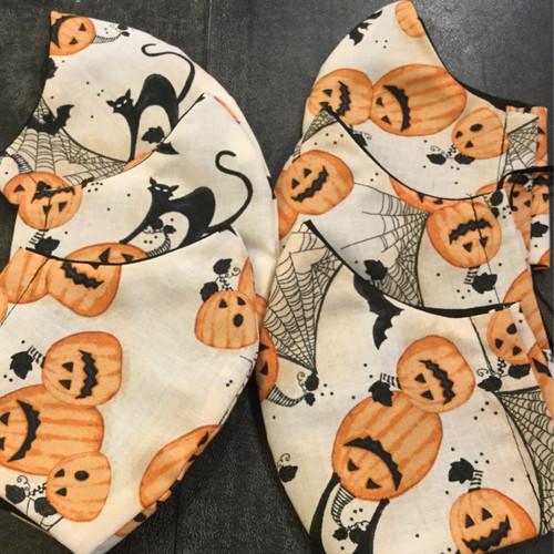 Halloween Pumpkin, Spiders and Black Cat Mask