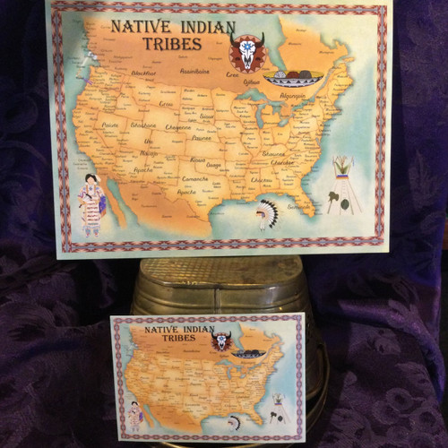 Native Indian Tribes Map