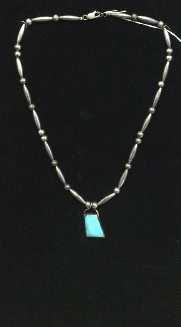 Navajo Turquoise S/S Bead Necklace